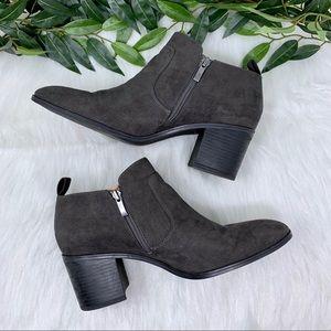 Franco Sarto Shoes - Franco Sarto Halle Gray Suede Ankle Bootie 11